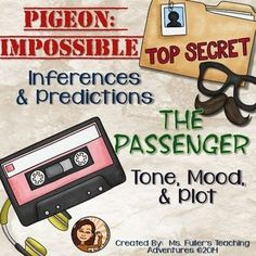 Reading Skills Practice with Pigeon: Impossible and The Passenger Two short, approximately 15 minute lessons to introduce and or review inferring and predicting and or tone, mood, and plot in preparation for deeper analysis of texts. Includes worksheets to accompany video- made to be cut in half to save paper!