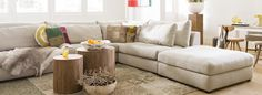 Love these oversized sectionals Interior Styling, Home Furniture, Lounge, Couch, Living Room, Home Decor, Sectional Sofas, Interior Decorating, Airport Lounge
