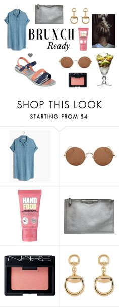 """""""Brunch Ready ~"""" by zaxyshoes-co-uk on Polyvore featuring Madewell, Sunday Somewhere, Soap & Glory, Givenchy, NARS Cosmetics and Gucci"""