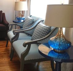 Custom designed side chairs and drapery for #BedfordPark  by Second Wind Interior Design