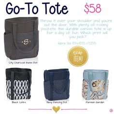 Loving this new Go To Tote from Thirty-One! Shop online at  mythirtyone.com/454603