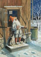 Jenny Nyström, (1854-1946) defined the look of the Swedish tomte with her many illustrations.
