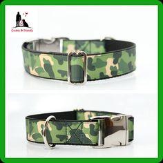 Hundehalsband Camouflage Green Zugstophalsband