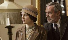 Daisy and Mr Mason on Downton Abbey
