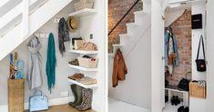 Une penderie sous l'escalier à l'entrée. #escaliers #escaliersinterieur #rangement #décomaison #maisondecor #hall