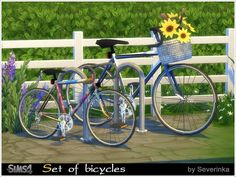 Set bicycles (DECOR) for decorating garden, park, garage.  Found in TSR Category 'Sims 4 Decorative Sets'