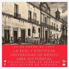#UnDíaComoHoy pero de 1553, la Real y Pontificia Universidad de México abrió sus puertas. #HistoriaDeMéxico #ELDEH #ConoceTuHistoria