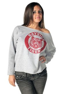 kelly kapowski bayside tigers off the shoulder sweatshirt saved by the bellhalloween costume - Saved By The Bell Halloween Costume