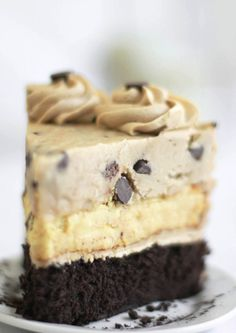 Chocolate Chip Cookie Dough Devil's Food Cake/Cheesecake... may try this one day.
