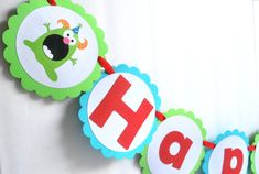 Monster Birthday Banner Cute little Monster by Mariapalito on Etsy, $26.50