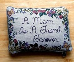 A Mom Is A Friend Forever. Floral and Butterfly Border. Dimensions: 12 in. x 9 in. / 30.5 cm. x 22.9 cm. | eBay!