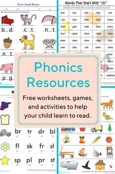 Becoming aware of phonemes early on will accelerate students' gains in literacy. Teaching Phonics, Phonics Worksheets, Phonics Books, Phonics Games, Handwriting Worksheets, School Worksheets, Teaching Child To Read, Teaching Reading, Kindergarten Activities