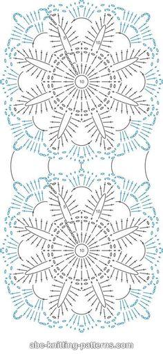 ABC Knitting Patterns - Fleur Arbor coussin.