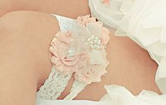 Vintage Bridal Garter Wedding Garter Set Toss Garter included Blush or Dusty Rose Ivory with Rhinestones and Pearls  Custom Wedding colors