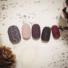 knitnails #nail #nails #nailart #ネイル #美甲 #ネイルアート #clou #nagel #ongle #ongles #unghia #japanesenailart ##ニットネイル #knitnails #秋ネイル #autumnnail #冬ネイル #winternails #PREGEL