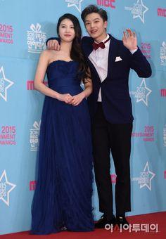 💝 Sungjoy at the MBC Entertainment Awards 💝 Wgm Couples, Cute Couples, Yook Sungjae, Btob, Sungjae And Joy, Korean Tv Shows, Ulzzang, Mac, We Get Married