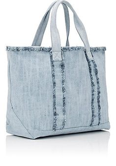 Women's Designer Totes Barneys New York Beach Tote - Totes - 504723497 Fringe Handbags, Denim Handbags, Tote Handbags, Fringe Purse, Denim Tote Bags, Denim Purse, Denim Crafts, Designer Totes, Craft Bags
