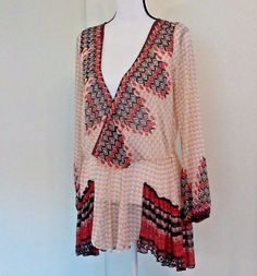 Free People The Mystic Peasant Ivory Medium M Tunic V-Neck Boho Chic Indie Hippy | Clothing, Shoes & Accessories, Women's Clothing, Tops & Blouses | eBay!