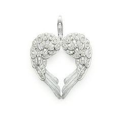 THOMAS SABO Sterling Silver Glam & Soul Colgante corazón de plumas