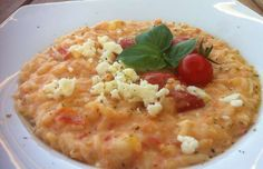 Risotto with Tomatoes and Feta cheese