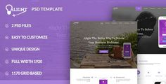 Alight PSD Template can be used for any type of Apps websites.This template is a highly suitable for startup mobile apps,saas applications,software, digital products etc.  The PSD is designed on 11...