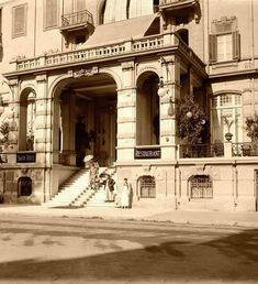 المدخل الرئيسي لفندق جراند سافوي - شارع قصر النيل باتجاه ميدان سليمان باشا { طلعت حرب حاليا} القاهره عام 1911    Reem