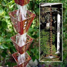 rain chain for garden decoratinghouse exterior