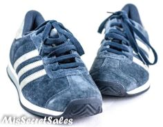 NEW WOMENS SHOES ADIDAS ORIGINALS JOGGER VINTAGE SUEDE NAVY TRAINERS SZ 4UK 4.5