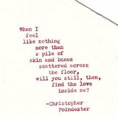 """""""Romantic Universe"""" series poem #17 Christopher Poindexter"""