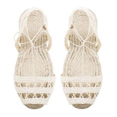 A.P.C. Ball Pagès espadrilles available in white or black, now in stores and online. #apc