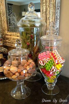 Holiday Apothecary Jars - Driven by Decor