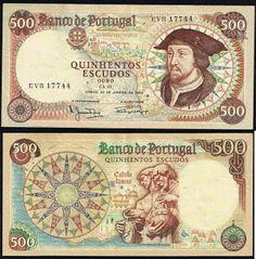 Portugal 500$00 25-01-1966 - D. João II - Pick 170a Notas de Portugal e Estrangeiro World Paper Money and Banknotes: Portugal 500$00 25-01-1966 - Pick 170a