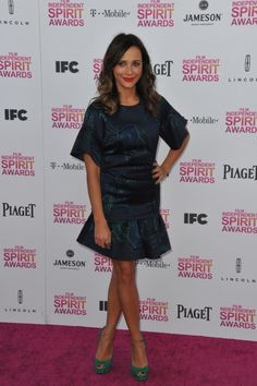 Rashida Jones at the 2013 Film Independent Spirit Awards on the beach in Santa Monica.  #fashion #style #celebrity #dress #looks #redcarpet
