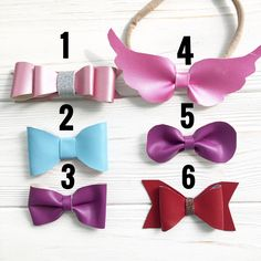 A personal favorite from my Etsy shop https://www.etsy.com/listing/555315957/leather-bows-for-baby-girl-pink-purple