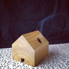 Get cozy with this tiny incense cabin.