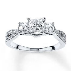 99121660399 - Diamond Engagement Ring 1/2 ct tw Princess-cut 14K White Gold