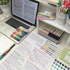 emma's studyblr - emma's studyblr - School Organisation, Study Organization, University Organization, Organizing, Study Desk, Study Space, Studyblr, Study Pictures, Study Areas