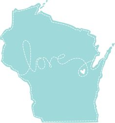 Wisconsin Love by RootedInPaper on Etsy
