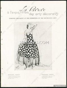 La Parure 1926 Exhibition of the Decorative Arts, Madeleine Vionnet, Sonia Delaunay, Jeanne Lanvin, Hermès, Mouna Katorza...