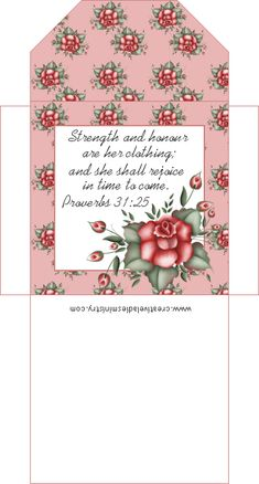 Printable Tea Bag Covers with Scripture - Great for a Mother's Day Tea or Ladies Tea with my Church Group