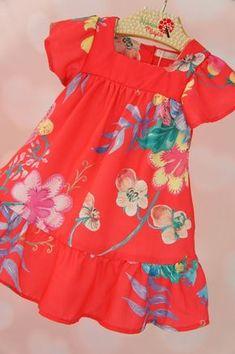 Girls Frock Design, Kids Frocks Design, Baby Frocks Designs, Baby Dress Design, Frocks For Girls, Dresses Kids Girl, Kids Outfits, Little Girl Fashion, Kids Fashion