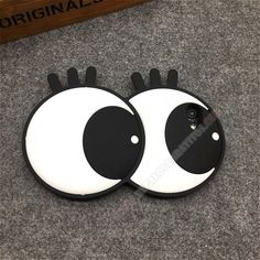 Carcasa silicona divertida 3D diseño ojos para tu móvil iPhone 7
