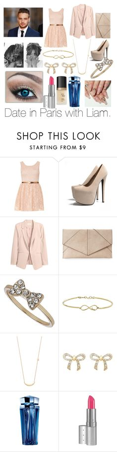 """""""Date in Paris with Liam."""" by elisabeth-galfano ❤ liked on Polyvore featuring Payne, AX Paris, H&M, Urban Expressions, Topshop, Jennifer Zeuner, Talullah, Thierry Mugler, Viva La Diva and Too Faced Cosmetics"""