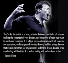 """Live strong, live wit passion"" - Tony Robbins"