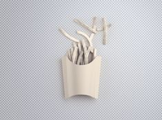 Free Simple French Fries Packaging Mockup in PSD - DesignHooks