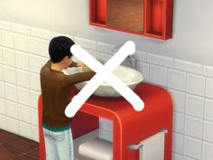 Mod The Sims: No Dishes in Bathroom Sinks by plasticbox