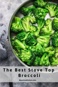 Stove Top Broccoli Stove Top Broccoli Tracy Hancock Lipsey tracylipsey Recipe Stove top broccoli is the best broccoli ever! This broccoli takes less […] recipes stove top Cooking Fresh Broccoli, Steamed Broccoli Recipes, Vegetable Medley, Vegetable Sides, Broccoli Salad, Broccoli Casserole, Vegetable Recipes, Best Broccoli Recipe Ever, Amigurumi