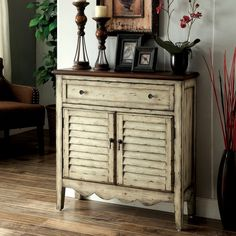Furniture of America Bonnie Antique White Storage Cabinet - Overstock™ Shopping - Great Deals on Furniture of America Coffee, Sofa & End Tables