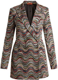 MISSONI Double-breasted peak-lapel wave-pattern blazer. Blazer jacket fashions. I'm an affiliate marketer. When you click on a link or buy from the retailer, I earn a commission.