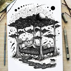 Amazing Pen and Ink Cross Hatching Masters Edition Ideas. Incredible Pen and Ink Cross Hatching Masters Edition Ideas. Dream Illustration, Illustration Art Drawing, Ink Illustrations, Cool Art Drawings, Art Drawings Sketches, Pencil Drawings, Dream Drawing, Nature Drawing, Pen Art